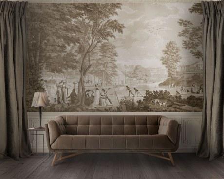 Roman Landscapes- antique wallpaper
