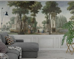 Walk in a park - Wallpaper mural