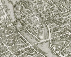 Paris 1739 - Full map - Wallpaper mural
