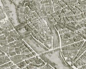 Paris 1739 - Full map - Wallpaper mural