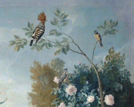 Dogs&Birds 1/4 - Wallpaper mural