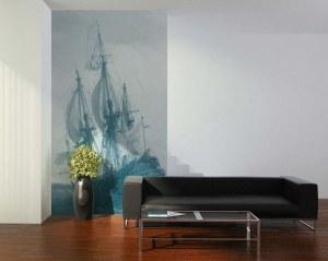 Naval battle - Wallpaper mural