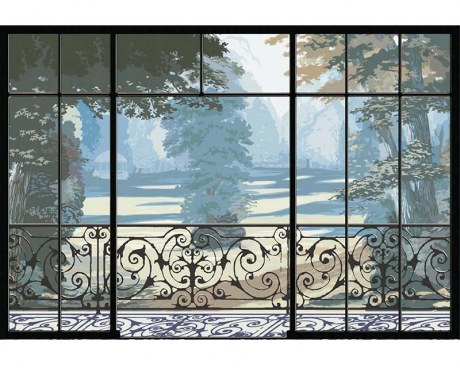 French garden - Wallpaper mural