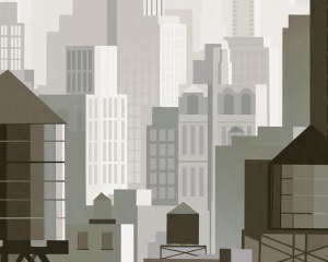 New York 1930 - Wallpaper mural