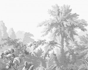 Grisaille landscape - Wallpaper Mural