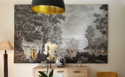 Roman Landscapes- antique wallpaper