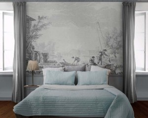 Antic Harbour scene/1 - Wallpaper mural