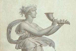 Papier peint de style antique