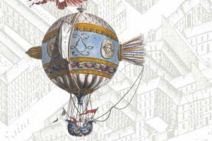 Papier peint montgolfiere
