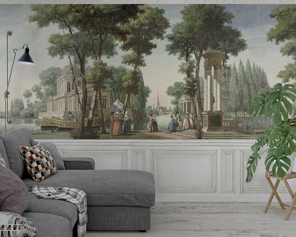 Murali in carta da parati in stile francese