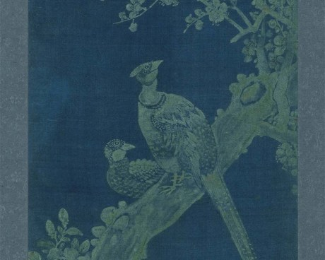 Coreano Pannello N° 10/10 - Fiori Uccelli