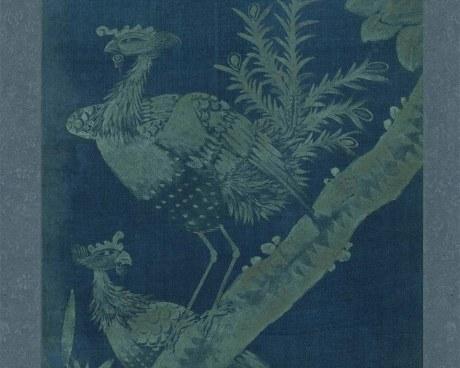 Coreano Pannello N°2/10 - Fiori Uccelli