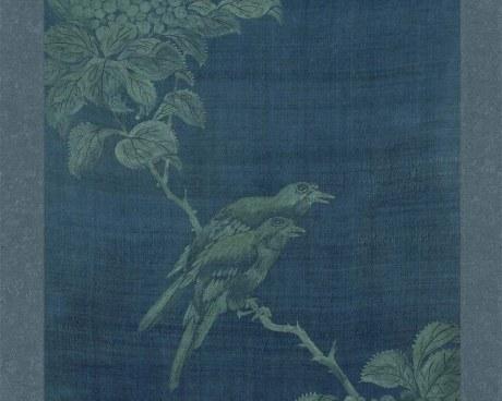 Coreano Pannello N°3/10 - Fiori Uccelli