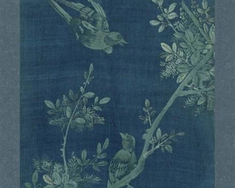 Coreano Pannello N°4/10 - Fiori Uccelli