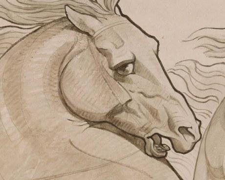 Cavallo rampante - carta da parati