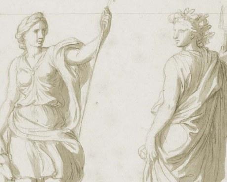 Statue classiche - decorazione murale
