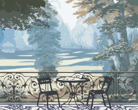Giardino francese - Carta da parati