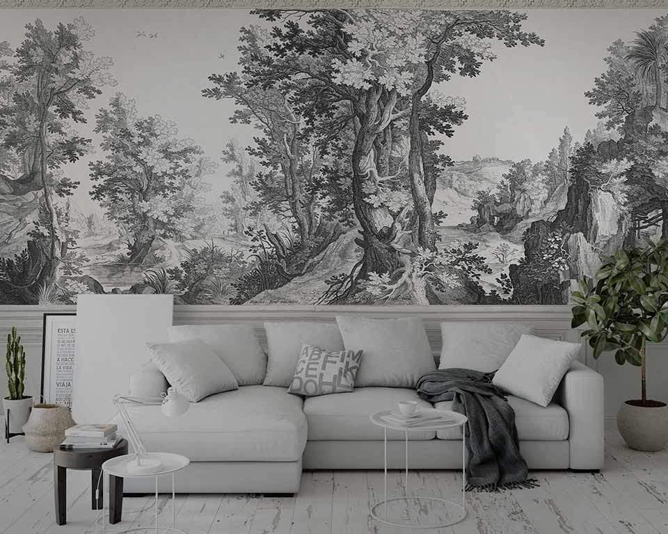 Nos papiers peints panoramiques forestiers