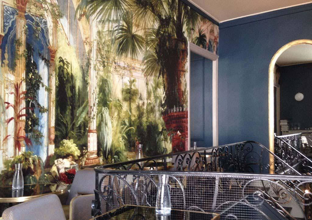Decor mural exotique pour le restaurant CAEPUS