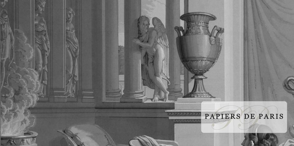 Detail cupidon - Psyché au bain- Papiers de Paris