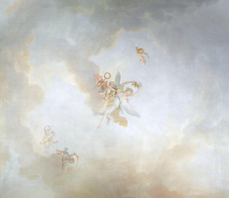 Papier peint ciel et angelot