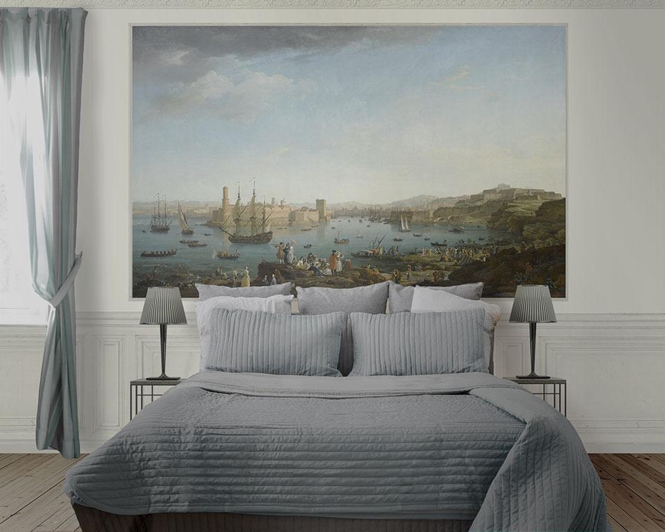 Papier peint le port de marseille
