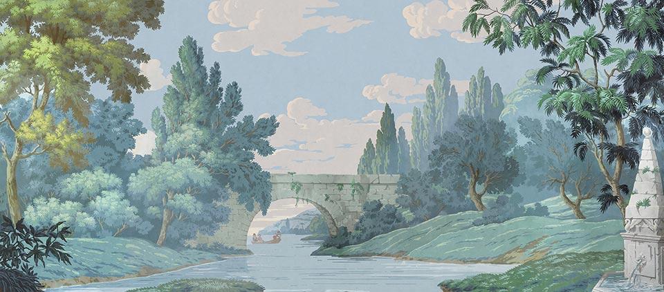 Papier peint paysage francais