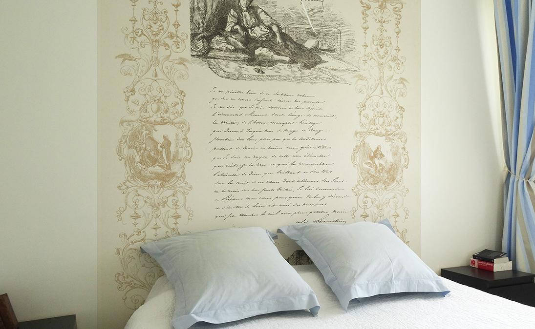 Tete de lit- papier manuscrit