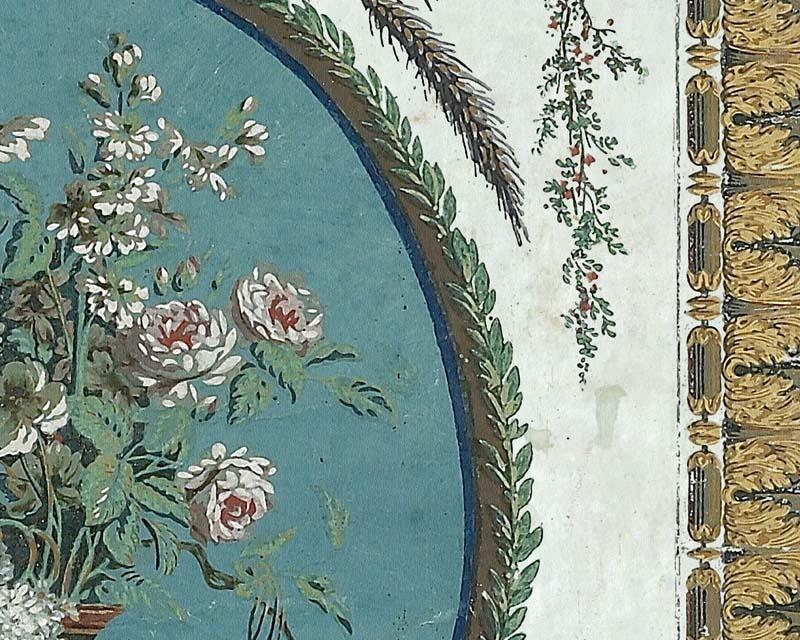 panneau arabesque en papier peint reveillon 18eme siecle papiers de paris. Black Bedroom Furniture Sets. Home Design Ideas