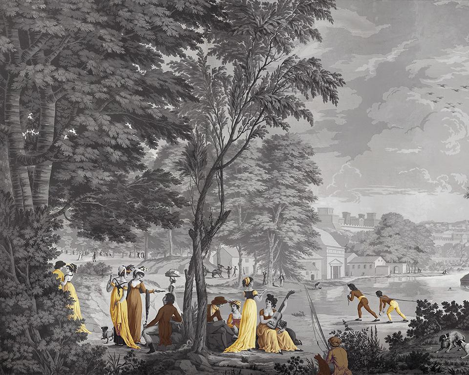 Paysages Romains   Manufacture Dufour 19eme siècle   Papiers de Paris