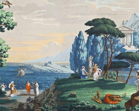 Paysage de Télémaque dans l'île de Calypso