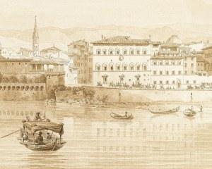 Gondoles à Florence - Papier peint