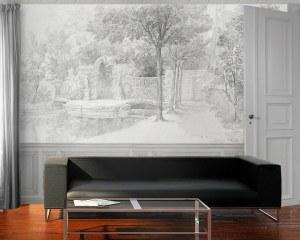 Jardins  d'Arcueil 1/2- Papier peint