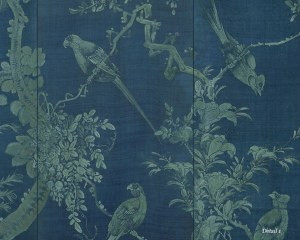 Fleurs et oiseaux - Panoramique