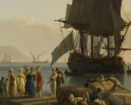 Marine au soleil couchant - Papier peint