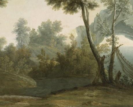 Paysage champêtre - Papier peint