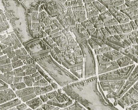 Paris 1739 - Plan complet - Papier peint