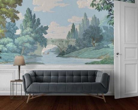 panoramique la planche paysage fran ais papiers de paris. Black Bedroom Furniture Sets. Home Design Ideas