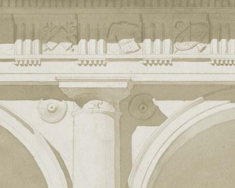 Colonne romaine - Papier peint