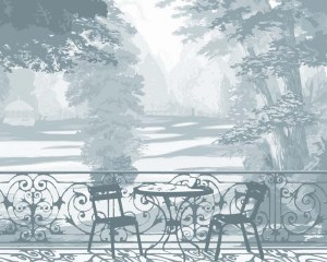Jardin français - Papier peint