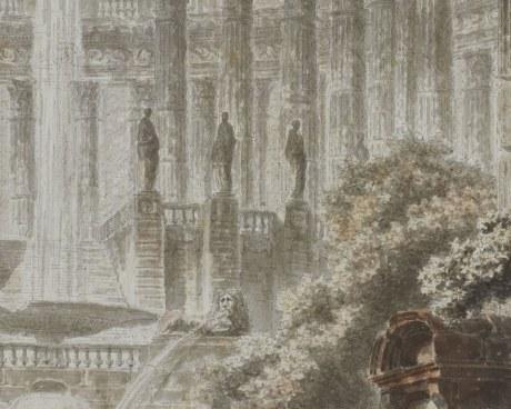 Ruines antiques - Papier peint